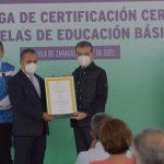 Entrega MARS certificación a 67 escuelas