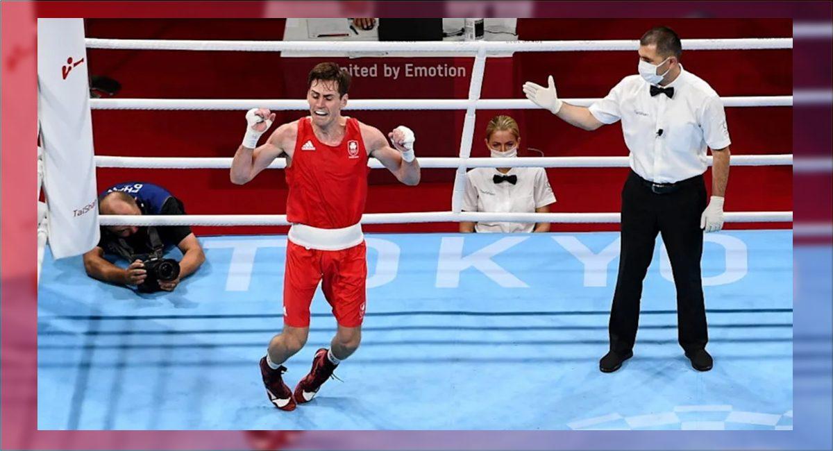 El boxeador irlandés Aidan Walsh se lesionó cuando saltó festejando su pase a la semifinal