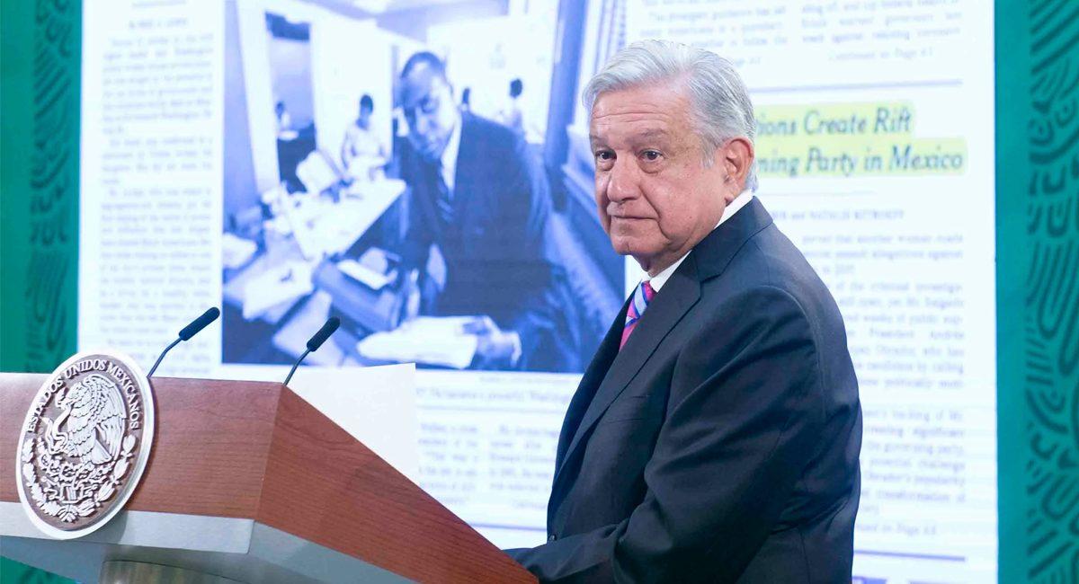 El presidente Andrés Manuel López Obrador criticó al diario NYT en su conferencia matutina
