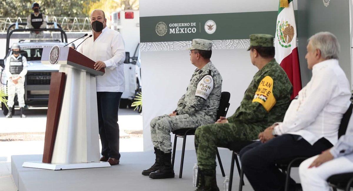 Enrique Alfaro, gobernador de Jalisco, informó sobre la detención, acompañado del presidente López Obrador
