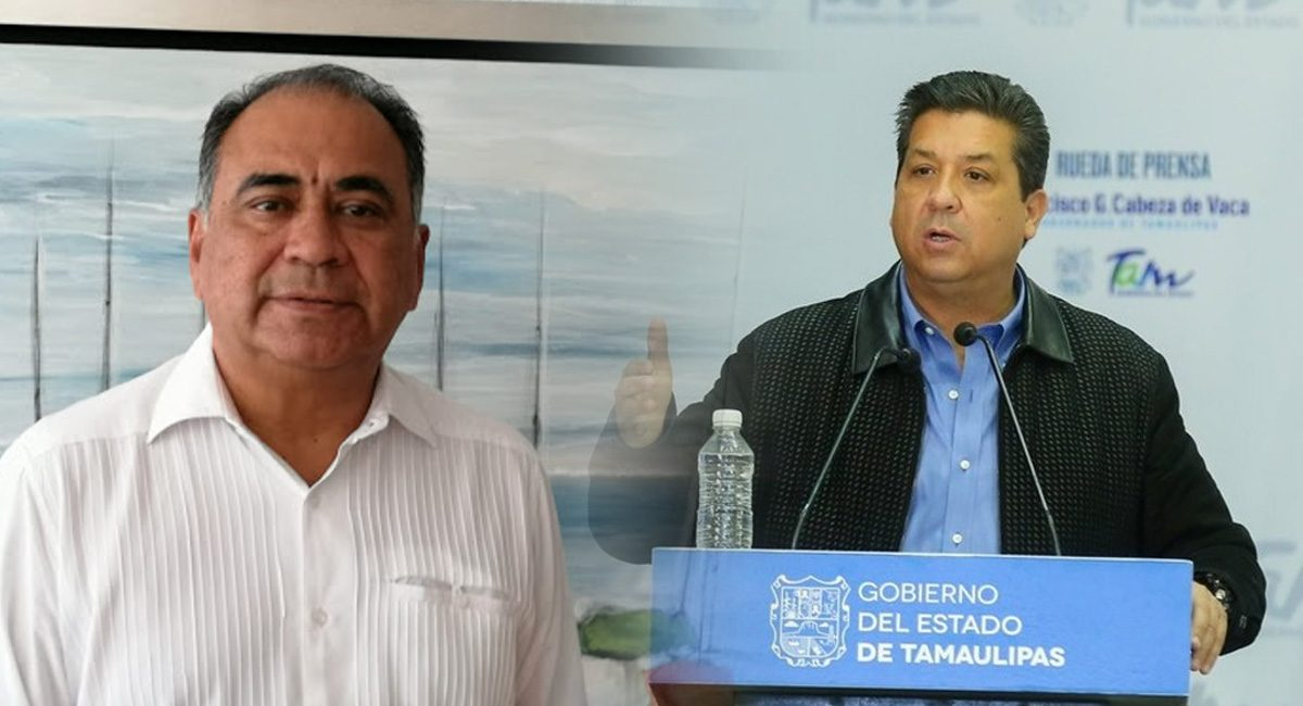 Héctor Astudillo, gobernador de Guerrero y Francisco García, gobernador de Tamaulipas