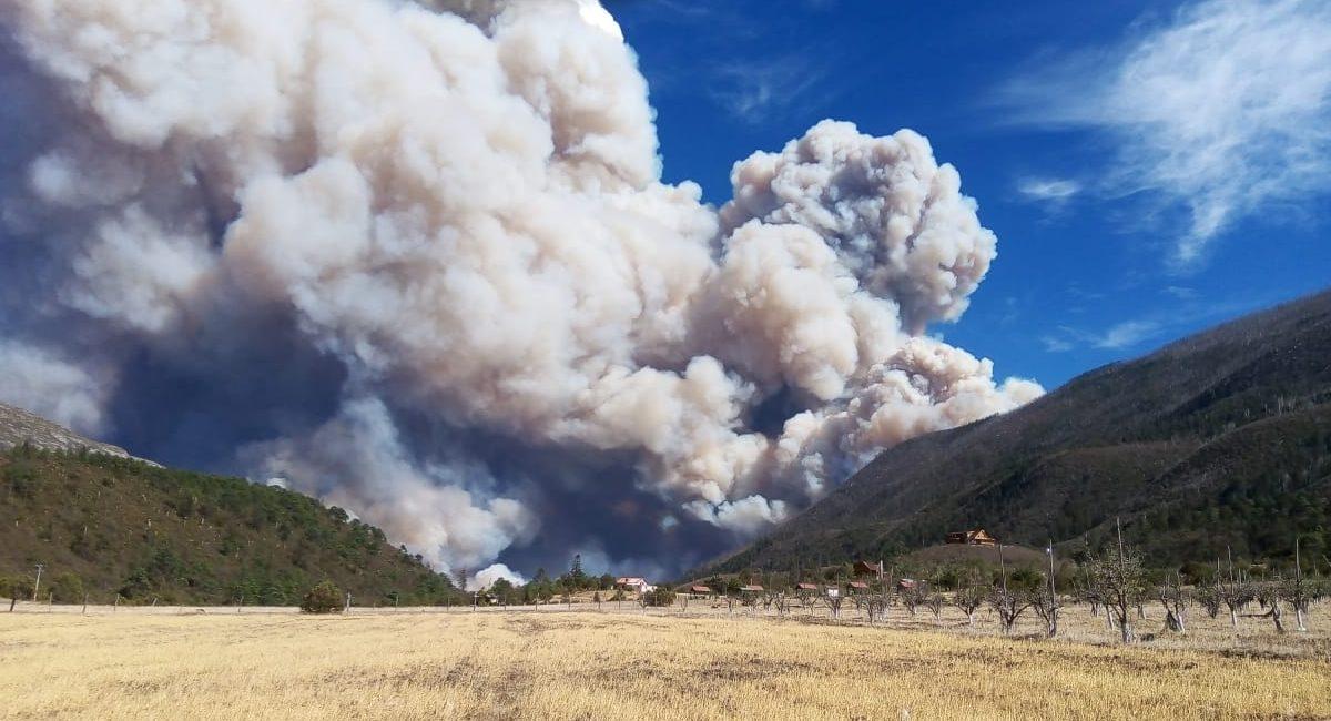 Incendio forestal en la Sierra de Arteaga
