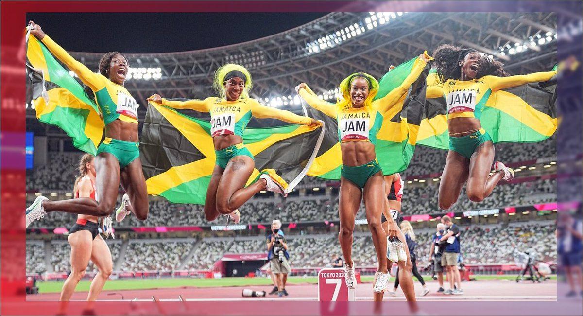 Jamaica gana el oro en relevo de 4 x 400 metros femenil