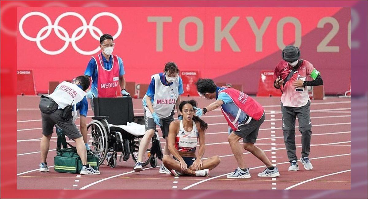 Katarina Johnson-Thompson se lesionó en los 200 metros
