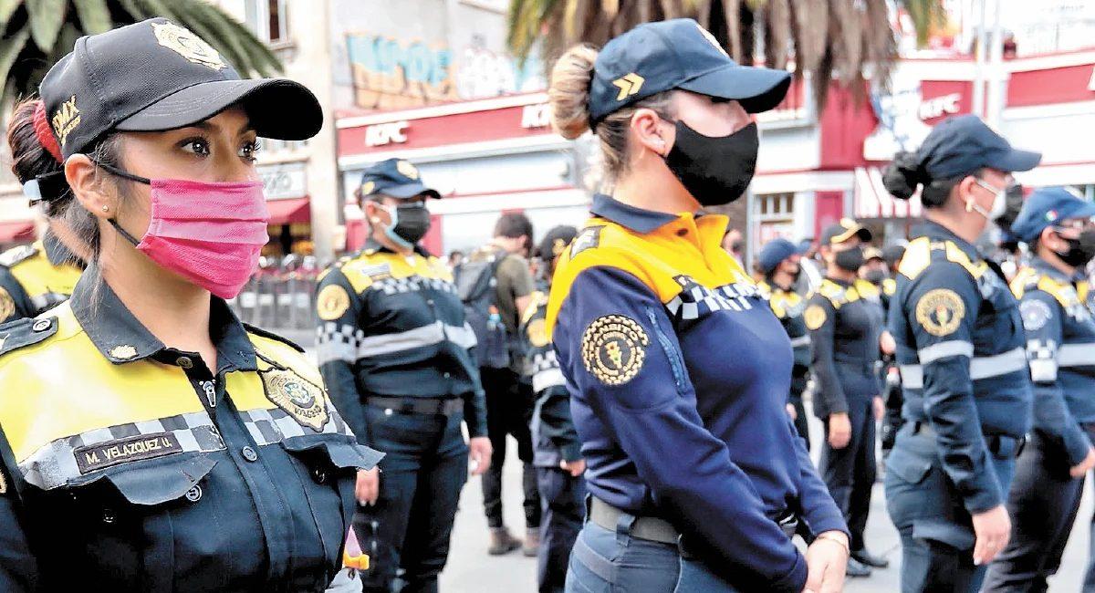 Mujeres policía de la Ciuda de México