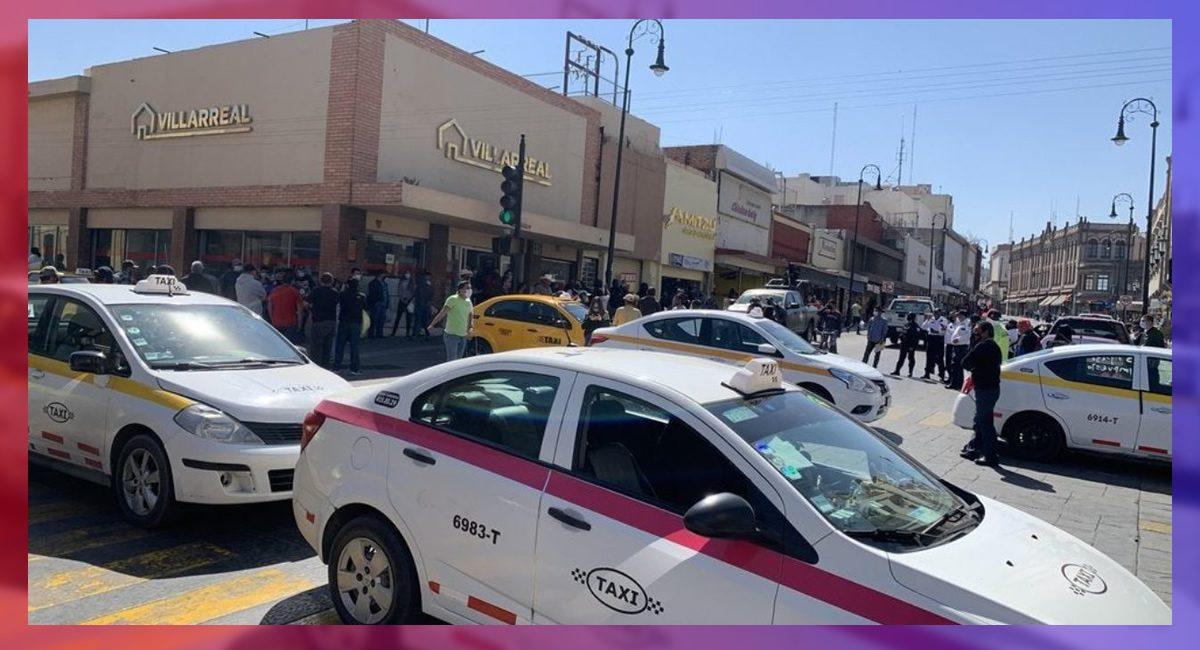 Taxistas de Saltillo en contra de las aplicaciones