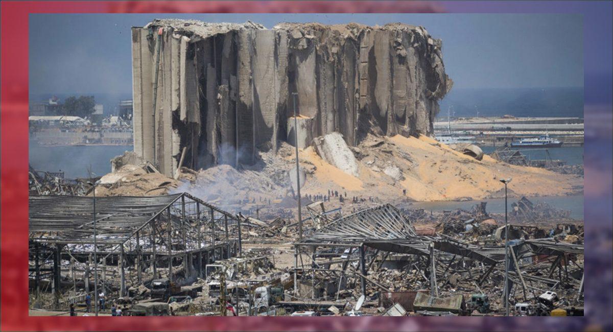 Zona de la gigantesca explosión en Beirut el 4 de agosto de 2020
