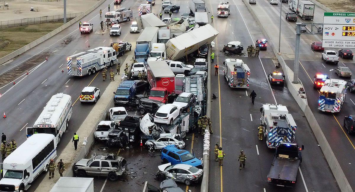 accidente autopista texas