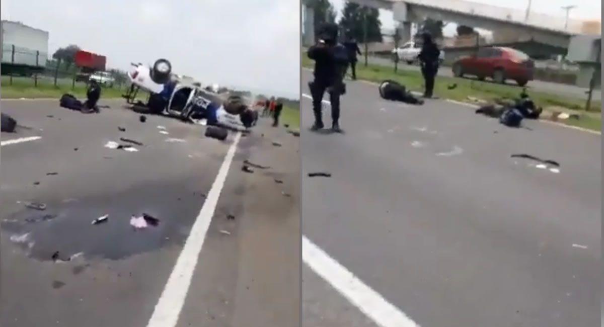 accidente policias