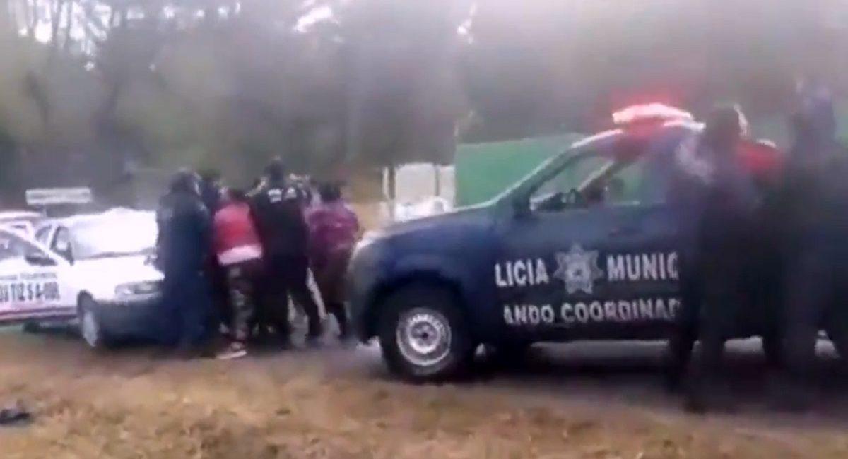 agresion a policias hidalgo