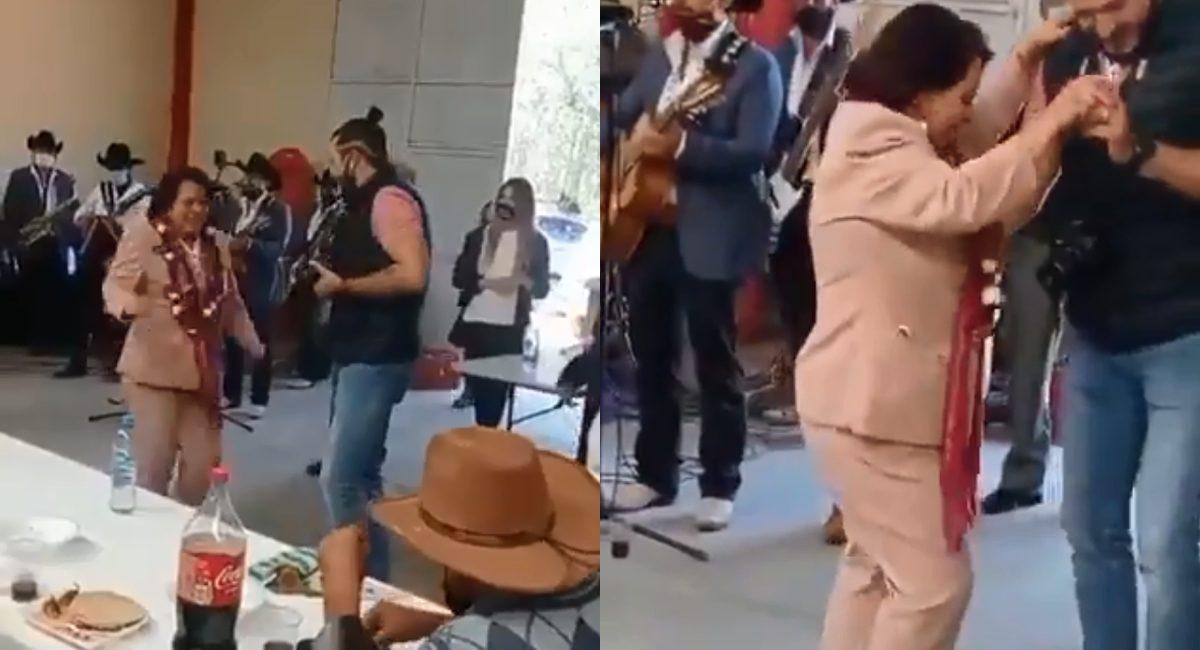 baile precandidata morena