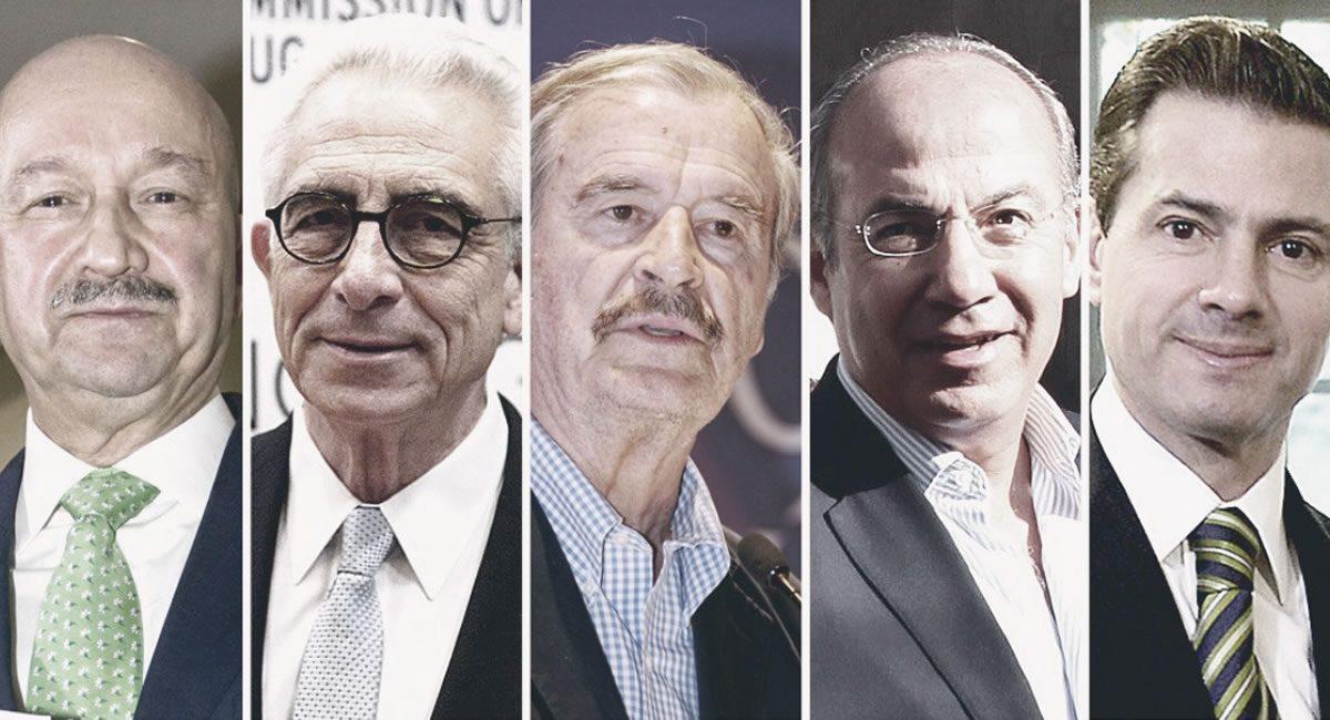 ex presidentes de mexico - salinas - zedillo - fox- calderon - peña