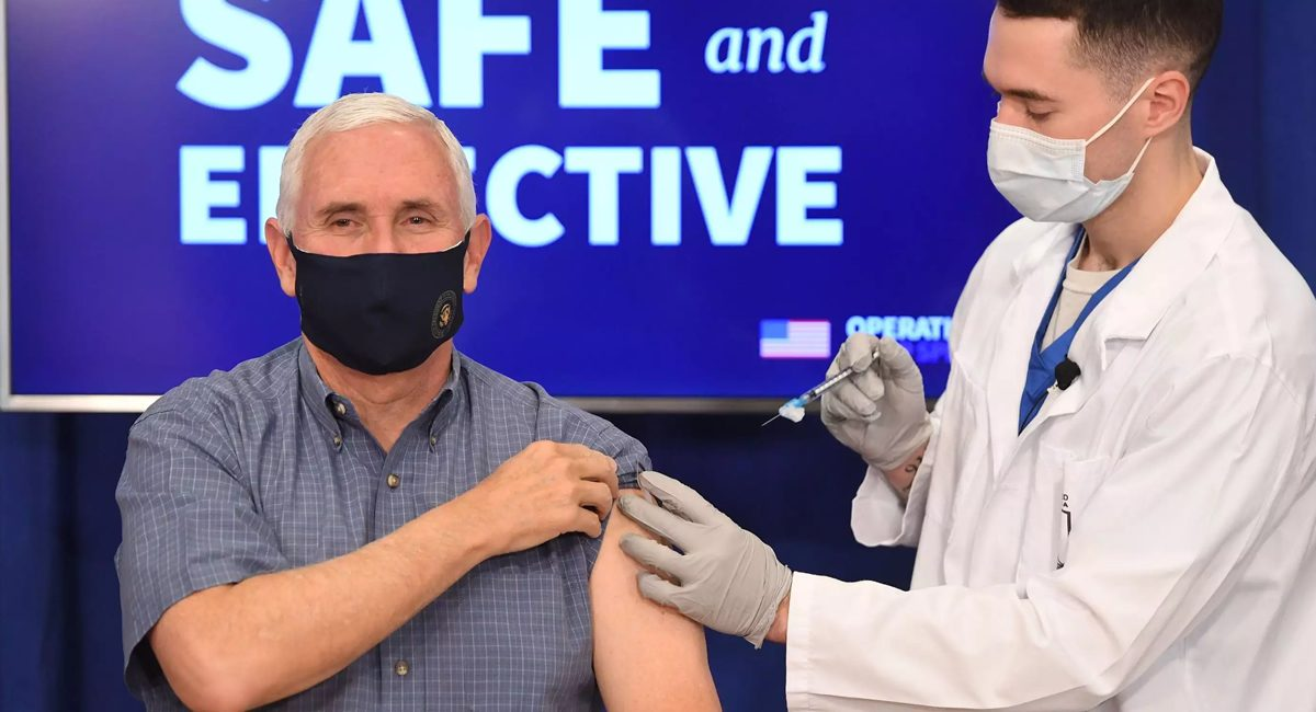 mike pence vaccinates
