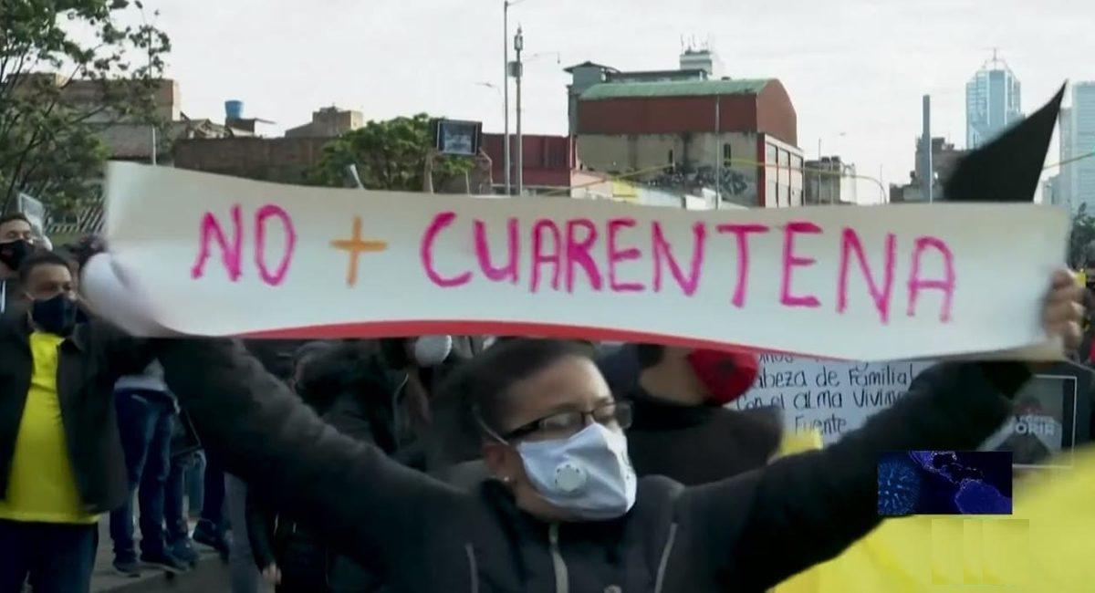 no mas cuarentena protestas covid-19