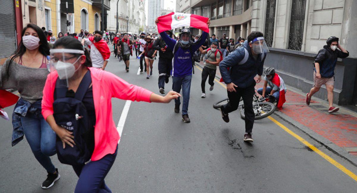 protestas en peru