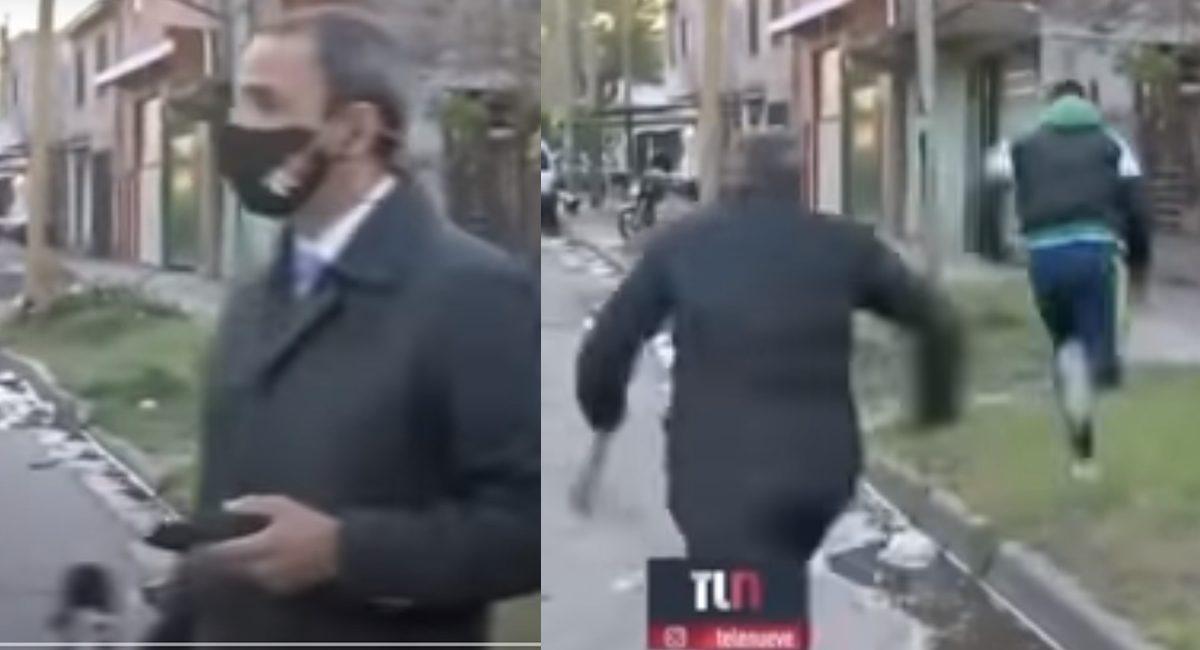 reportero telefono robado al aire