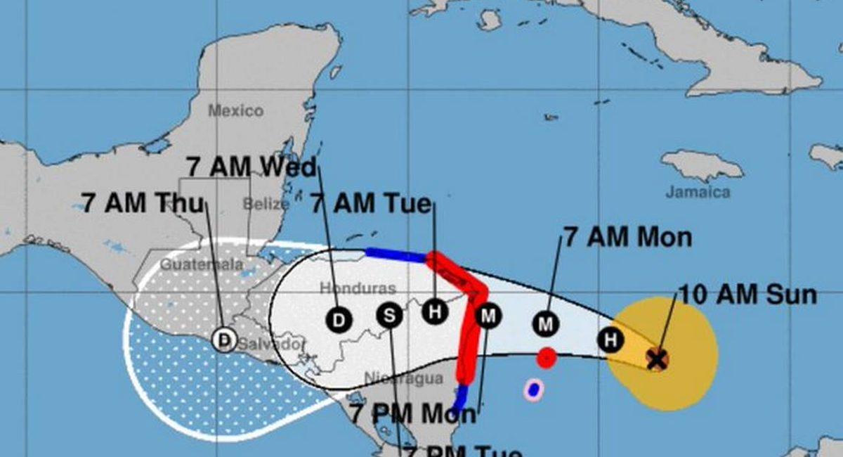 trayectoria huracán lota