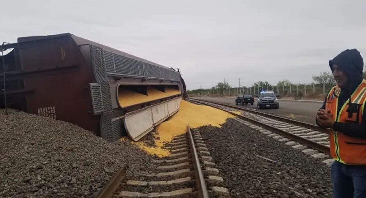 tren descarrilado maíz nava