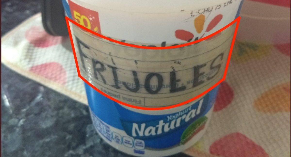 yogur frijoles