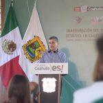 Inaugura el gobernador Miguel Riquelme Paso Superior Vehicular en beneficio de la Región Carbonífera.