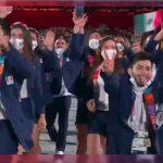 Mexicano se quita cubrebocas en desfile de JJOO y le llueven criticas