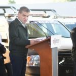 Gobernador hace entrega de patrullas en Matamoros